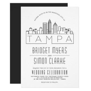 Tampa, FL Wedding | Stylized Skyline Invitations
