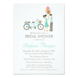 Tandem Bicycle Bridal Shower Invitation