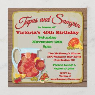 Tapas and Sangria Party Invitations