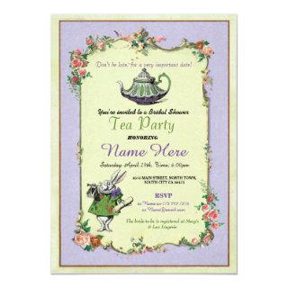 Tea Party Bridal Shower Alice in Wonderland Invite