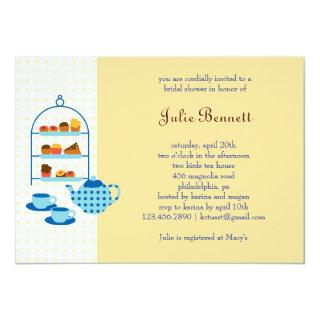 Tea Pot and Pastries Bridal Shower Invitations