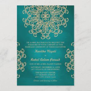 TEAL AND GOLD INDIAN STYLE WEDDING