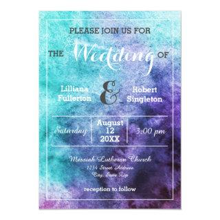 Teal Blue Purple Watercolor - Wedding Invitations