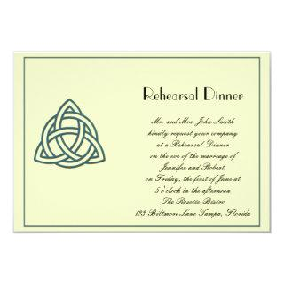 Teal Celtic Knot Wedding Rehearsal Invitations