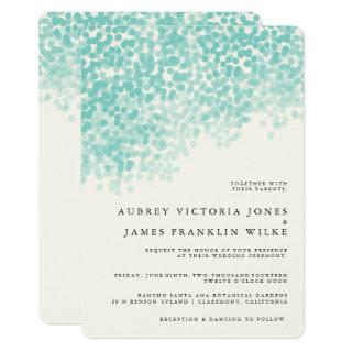 Teal Light Shower | Rustic Wedding Invitations