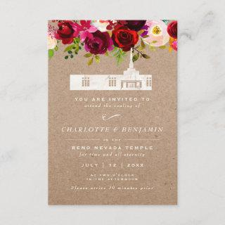 TEMPLE SEALING CARD | Reno Nevada Temple Wedding