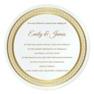 Temple Wedding Invitations-Eternal Circle Invitations