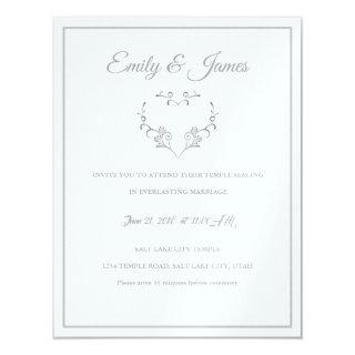 Temple Wedding Invitation-Fancy Heart Invitation
