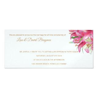 Temple Wedding Invitation Reception Card
