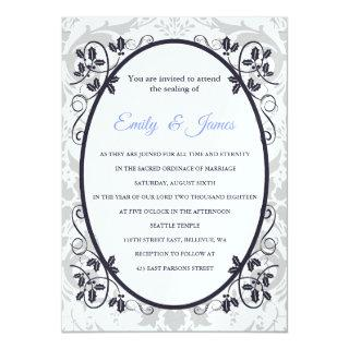 Temple Wedding Invitations Silver Coronation