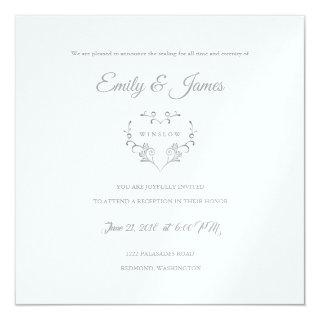 Temple Wedding Reception Card-Fancy Heart Invitations