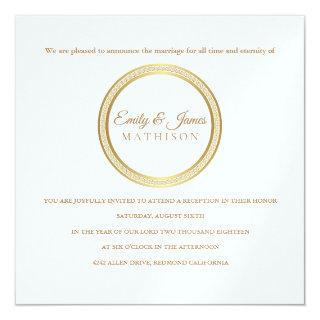 Temple Wedding Reception Invitation-Eternal Circle Invitation