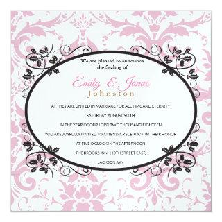 Temple Wedding Reception Invite Pink Coronation