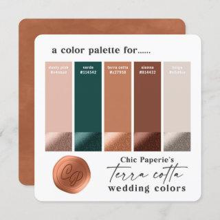 Terra Cotta Orange 2021 Wedding Color Palette Card