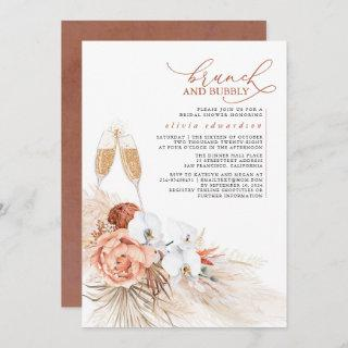 Terracotta Floral Pampas Grass Brunch and Bubbly