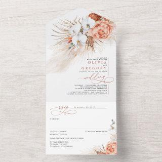 Terracotta Flowers and Pampas Grass Exotic Wedding All In One
