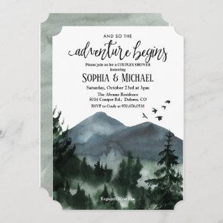 The Adventure Begins Couples Shower Invitations