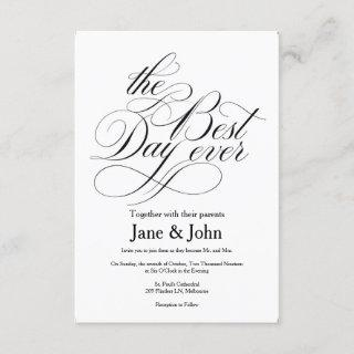 The Best Day Ever Wedding Invitation