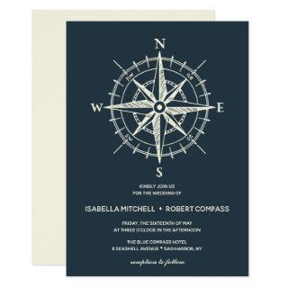 The Blue Compass | Wedding Invitations