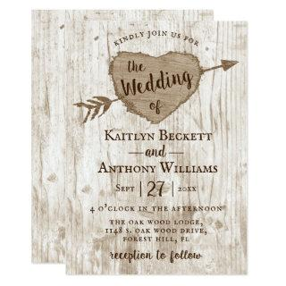 The Carved Heart Tree Wedding Collection Invitations