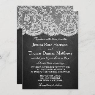 The Chalkboard & Lace Wedding Collection Invitation