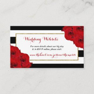 The Chic Modern Luxe Wedding Collection- Red Roses Enclosure Card