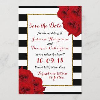 The Chic Modern Luxe Wedding Collection- Red Roses Save The Date