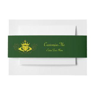 The Claddagh (Gold) Invitation Belly Band