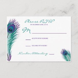 The Classy Peacock RSVP Invitations