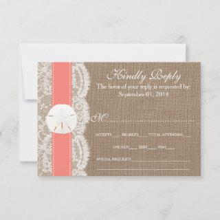 The Coral Sand Dollar Wedding Collection RSVP