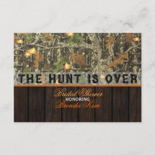 The Hunt Is Over Camo Bridal Shower Invitations