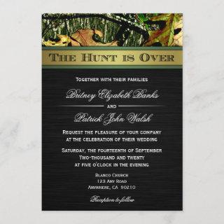 The Hunt is Over Hunting Camo Wedding
