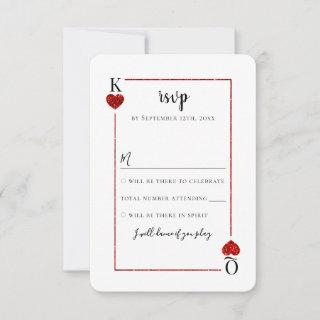 The Monogram Playing Card Wedding Collection RSVP
