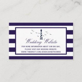 The Nautical Lighthouse Wedding Collection Enclosure Card