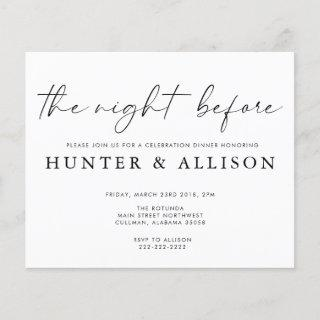 The Night Before   Invitations