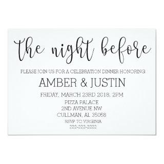 The Night Before | Invitations