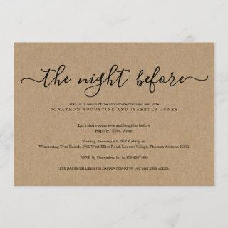 The Night Before Rehearsal Dinner Invitations