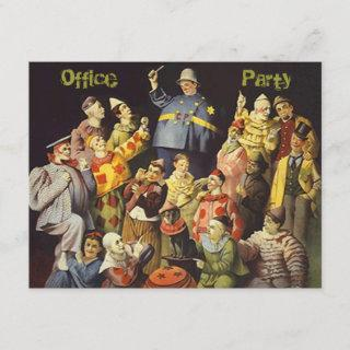 The Office Party Social Invitations Clowns Meeting
