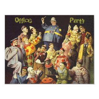 The Office Party Social Invitation Clowns Meeting