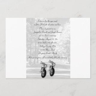 The Open Road Motorcycle Wedding Invitations