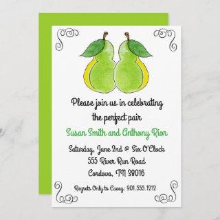 The Perfect Pair Bridal Shower Invitations