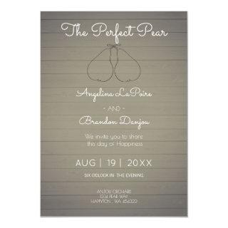 The Perfect Pear -  Orchard   theme  Wedding Invitations