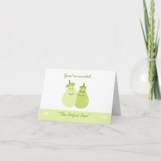 The Perfect Pear Whimsical Anniversary Card