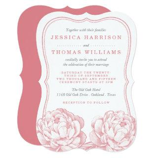 The Pretty Peony Floral Wedding Collection Invitation