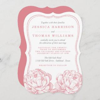The Pretty Peony Floral Wedding Collection Invitations