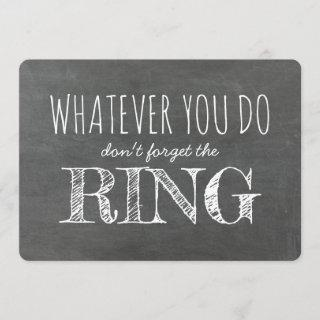 The Ring - Funny Ring Bearer Proposal Invitations