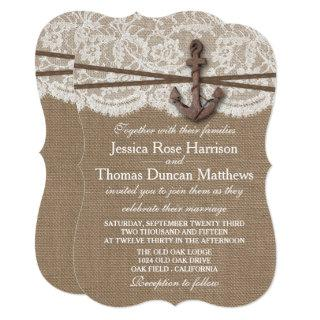 The Rustic Nautical Anchor Wedding Collection Invitations