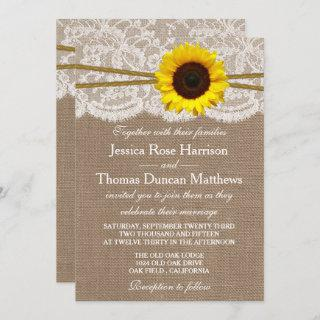 The Rustic Sunflower Wedding Collection Invitations