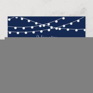 The String Lights On Navy Blue Wedding Collection Enclosure Card