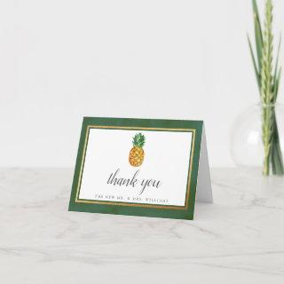 The Tropical Pineapple Wedding Collection Thank You Card